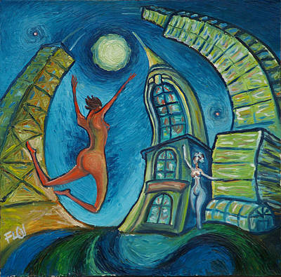 Tower Painting - Chicago Dance by Alejandro Flores