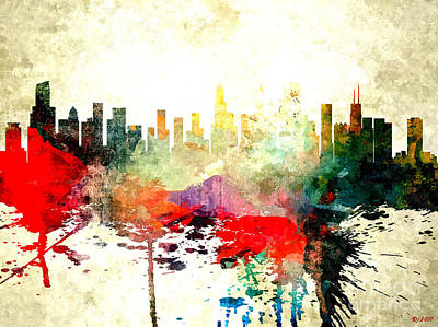 Mixed Media - Chicago by Daniel Janda