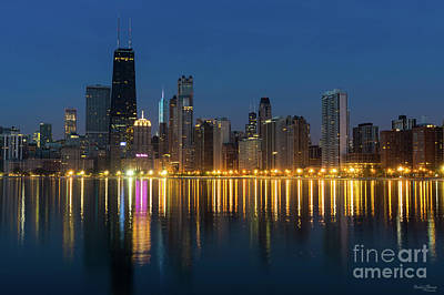 Photograph - Chicago Dawn Cityscape by Jennifer White