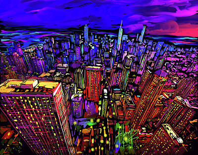 Painting - Chicago by DC Langer
