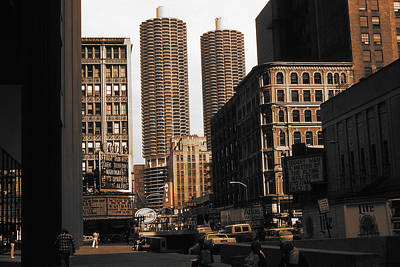Photograph - Chicago Downtown View - Marina City by Peter Potter