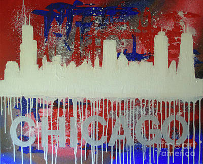Painting - Chicago Drip by Melissa Jacobsen