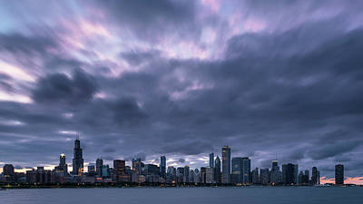 Photograph - Chicago Dusk by Ryan Heffron