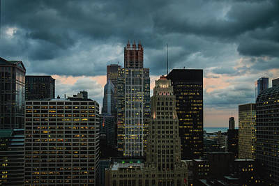 Photograph - Chicago Evening Storm - Color by Joni Eskridge