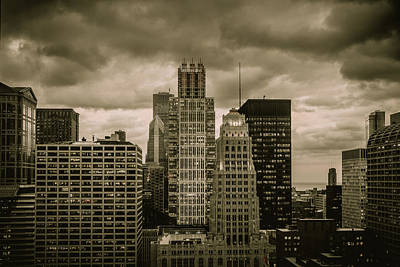 Photograph - Chicago Evening Storm - Desaturated by Joni Eskridge