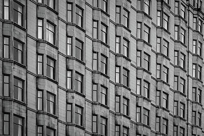 Photograph - Chicago Facade Pattern by John McArthur