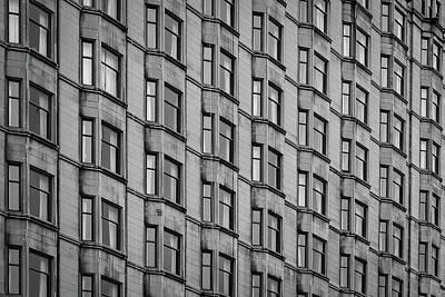 Photograph - Chicago Facade Pattern by John McArthur