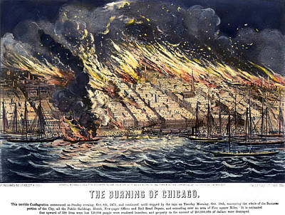 Photograph - Chicago: Fire, 1871 by Granger
