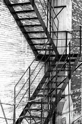 Photograph - Chicago Fire Escape by John Rizzuto