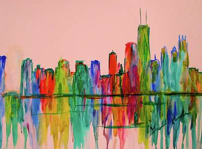 Painting - Chicago Flow Stage One by Kendall Kessler
