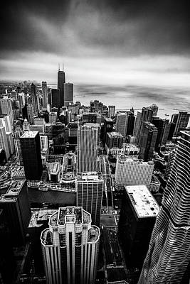 Chicago From Above Print by Andrew Soundarajan