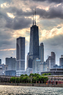 Blue Buildings Photograph - Chicago From The Pier by Joshua Ball