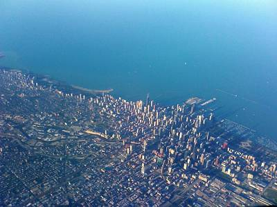 Chicago From Way Up Art Print by Jacob Stempky