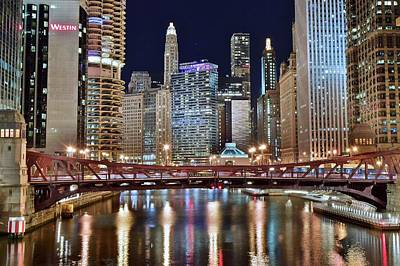 Dark Photograph - Chicago Full City View by Frozen in Time Fine Art Photography