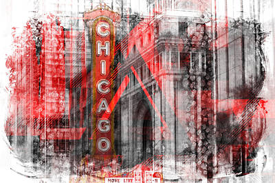 Abstract Sights Digital Art - Chicago Geometric Mix No. 4 by Melanie Viola