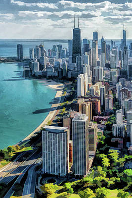 Painting - Chicago Gold Coast Skyline by Christopher Arndt