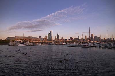 Chicago Harbor And Skyline Art Print by Sven Brogren
