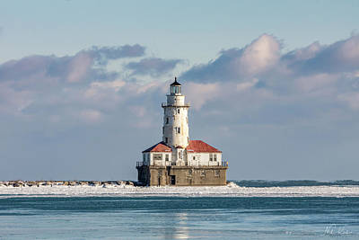 Photograph - Chicago Harbor Lighthouse by Framing Places