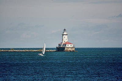 Photograph - Chicago Harbor Lighthouse by John Black