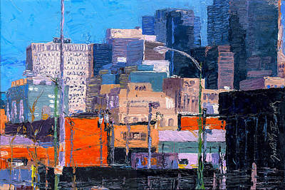 Painting - Chicago Highrise Buildings by Judith Barath