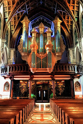 Painting - Chicago Holy Name Cathedral Organ by Christopher Arndt