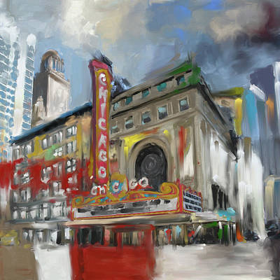 Painting - Chicago I 473 I by Mawra Tahreem