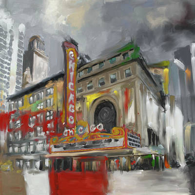 Painting - Chicago I 473 II by Mawra Tahreem