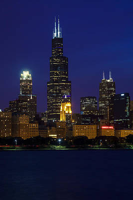 Blue Photograph - Chicago Icon by Andrew Soundarajan