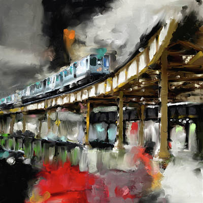 Painting - Chicago IIi 475 1 by Mawra Tahreem