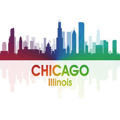 Skyscraper Mixed Media - Chicago Il 1 Squared by Angelina Vick