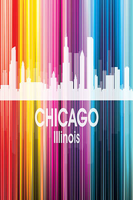 Digital Art - Chicago Il 2 Vertical by Angelina Vick