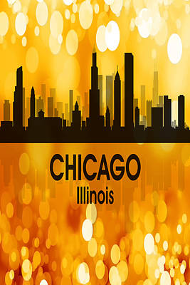Digital Art - Chicago Il 3 Vertical by Angelina Vick