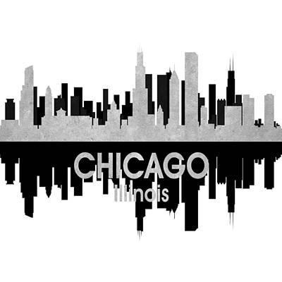 Rainbow Mixed Media - Chicago Il 4 Squared by Angelina Vick