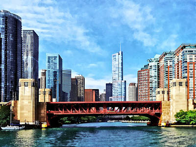 Photograph - Chicago Il - Lake Shore Drive Bridge by Susan Savad