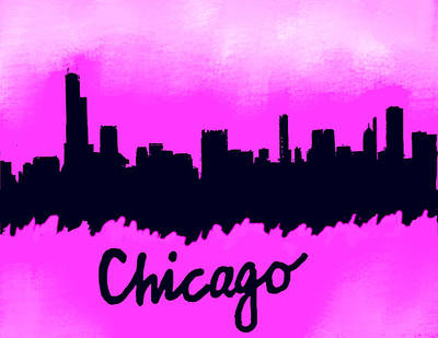 Philadelphia Skyline Painting - Chicago Il Skyline Color by Enki Art