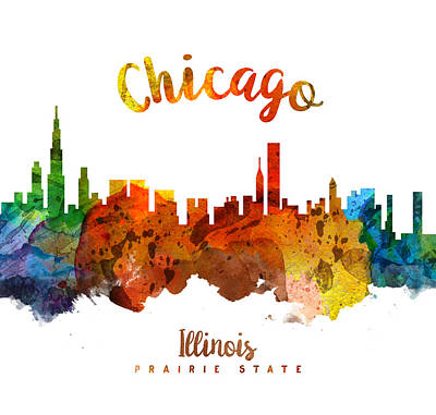 Chicago Skyline Painting - Chicago Illinois 26 by Aged Pixel