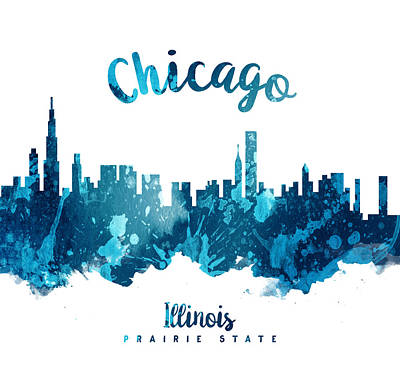 Chicago Skyline Painting - Chicago Illinois 27 by Aged Pixel