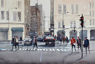 Crosswalk Painting - Chicago Impressions by Ryan Radke