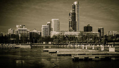 Photograph - Chicago In February by Miguel Winterpacht