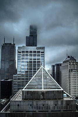 Photograph - Chicago In Fog And Rain by Joni Eskridge