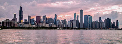 Painting - Chicago In Oil by Lev Kaytsner