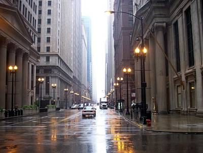 Photograph - Chicago In The Rain by Anita Burgermeister