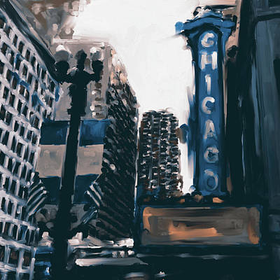 Chicago Oil Painting - Chicago Iv 476 3 by Mawra Tahreem