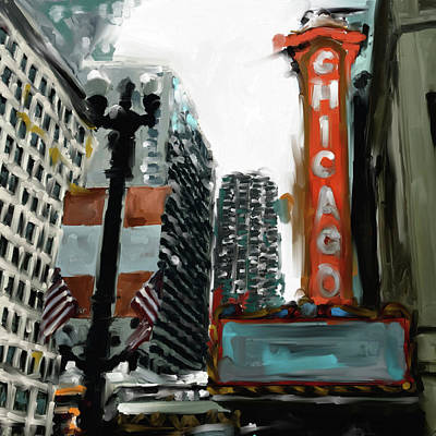Painting - Chicago Iv 476 I by Mawra Tahreem