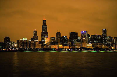 Photograph - Chicago January Nights by Miguel Winterpacht