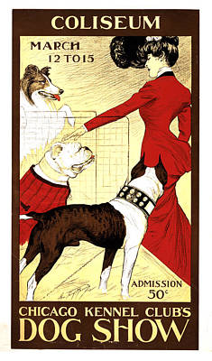 Mixed Media - Chicago Kennel Club's Dog Show - Vintage Advertising Poster by Studio Grafiikka