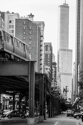 Photograph - Chicago L And Trump Tower by John McGraw