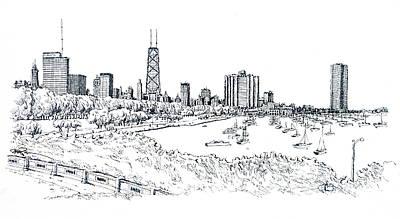 Chicago Lake Front  Art Print