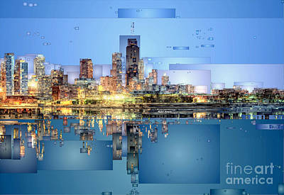 Digital Art - Chicago Lake Michigan by Rafael Salazar