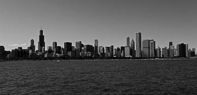 Chicago Lakeshore Skyline Art Print by Miranda  Miranda
